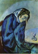 Picasso - Drunk Woman is Tired - 1902
