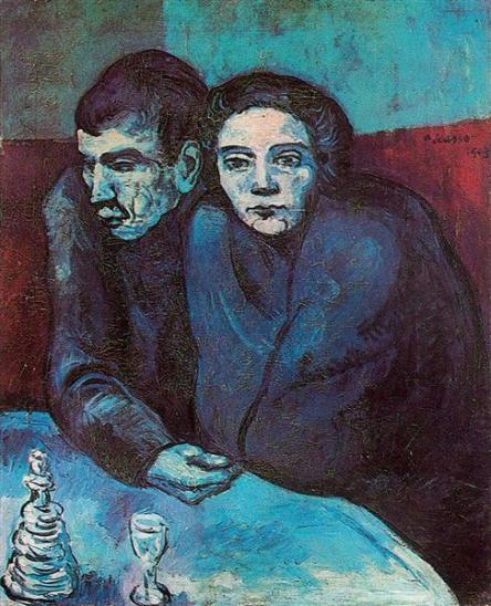 Picasso - Man & Woman in Cafe - 1903