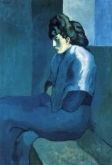 Picasso - Melancholy Woman - 1902