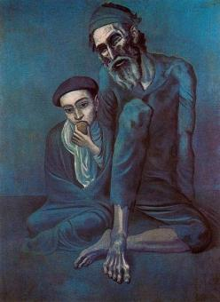 Picasso - Old Blind Man with Boy - 1903
