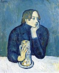 Picasso - Portrait of Jaime Sabartes (The Bock) - 1901