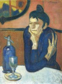 Picasso - The Absinthe Drinker - 1901 (2)