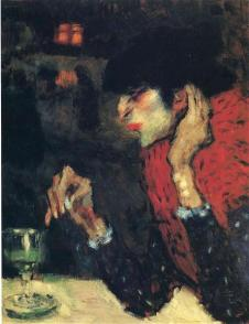 Picasso - The Absinthe Drinker - 1901
