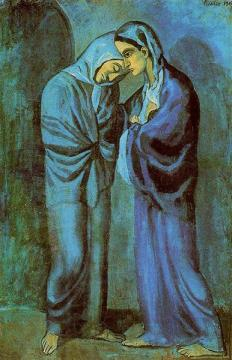 Picasso - The Visit (Two Sisters) - 1902