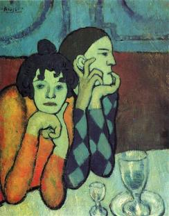 Picasso - Two Acrobats (Harlequin & His Companion) - 1901