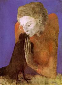 Picasso - Woman with Raven - 1904