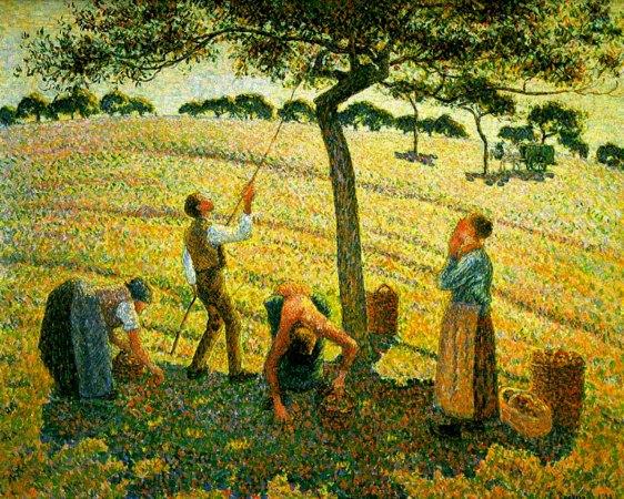 Pissarro - Apple Picking at Eragny-sur-Epte - 1888