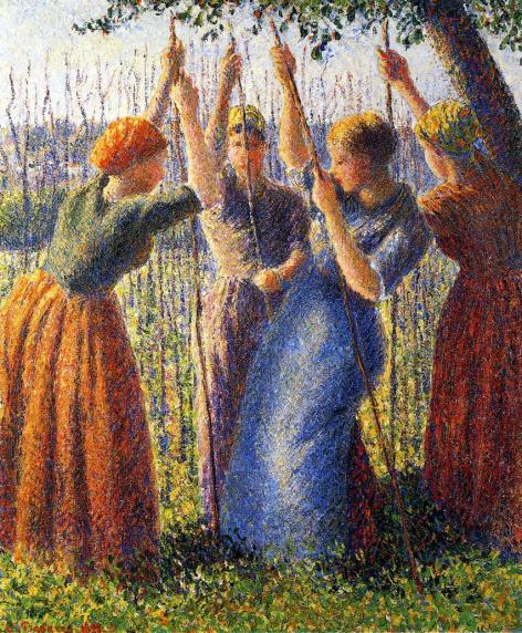 Pissarro - Peasant Women Planting Stakes - 1891