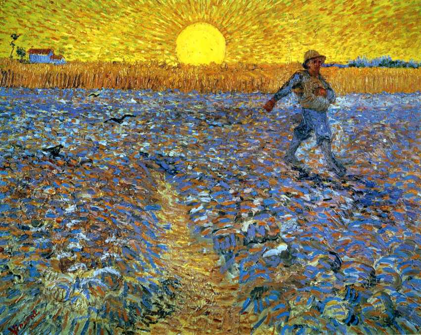 Van Gogh - The Sower (Sower with Setting Sun) - 1888