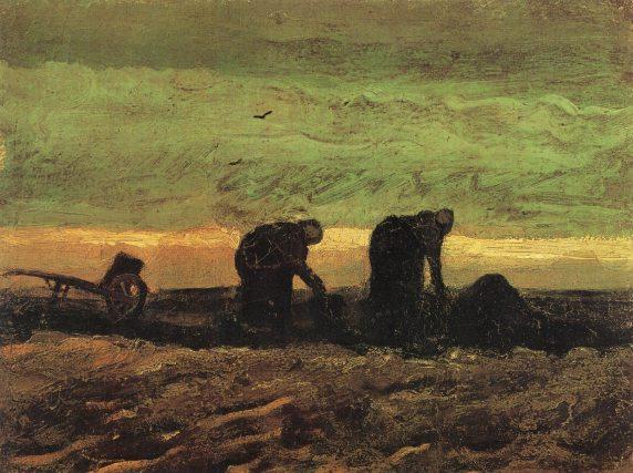 Van Gogh - Two Women in the Moor - 1883