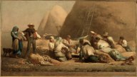 Millet - Harvesters Resting (Ruth & Boaz) - 1853