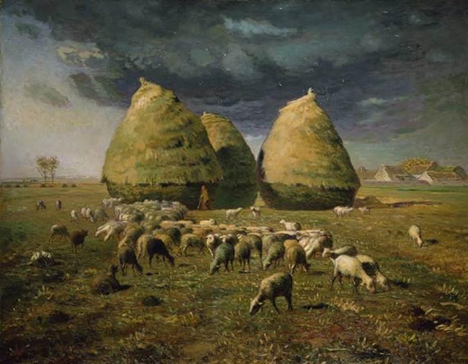 Millet - Haystacks Autumn - 1873