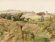 Millet - Hilly Landscape - 1867