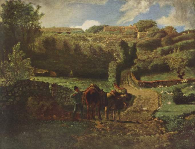 Millet - Manor Farm Cousin in Greville - 1855