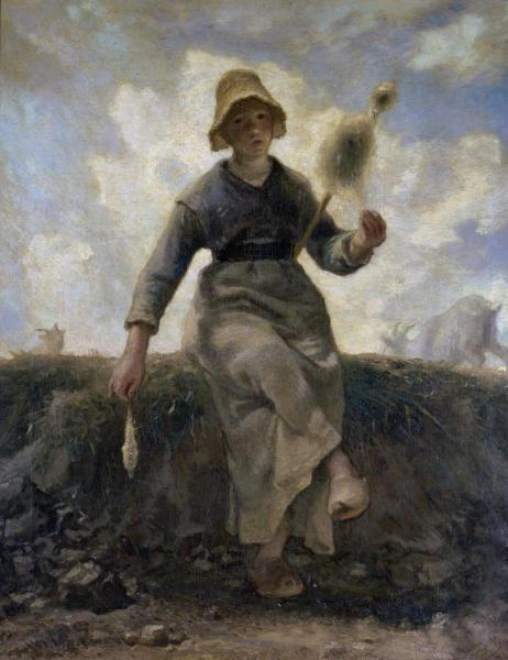Millet - The Spinner, Goatherd of the Auvergne - 1869