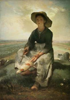 Millet - The Young Shepherdess - 1873