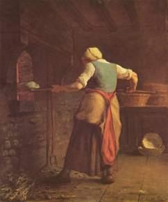 Millet - Woman Baking Bread - 1854
