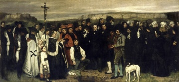 Courbet - A Burial at Ornans - 1850