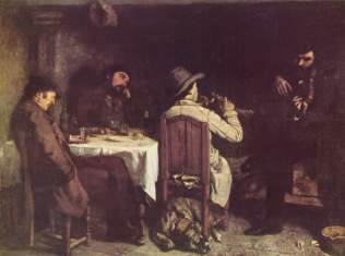 Courbet - After Dinner at Ornans - 1849