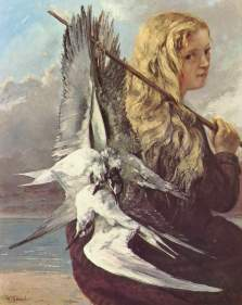 Courbet - Girl with Seagulls,Trouville - 1865