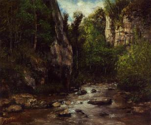 Courbet - Landscape near Puit Noir, near Ornans - 1872