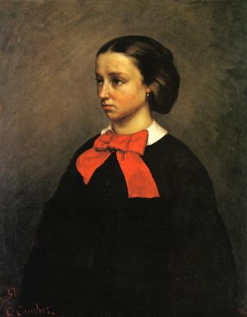 Courbet - Portrait of Mlle. Jacquet - 1857