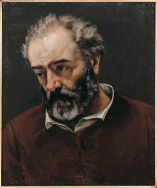 Courbet - Portrait of Paul Chenavard - nd