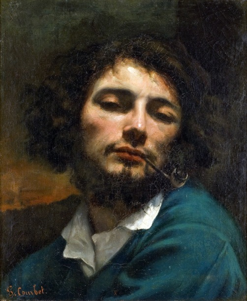 Courbet - Self Portrait (Man with a Pipe) - 1849