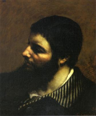 Courbet - Self-Portrait with Striped Collar - 1854