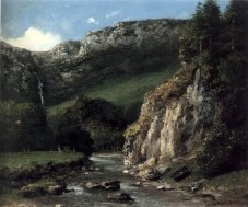 Courbet - Stream in the Jura Mountains - 1873