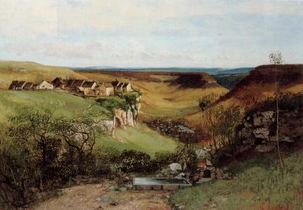 Courbet - The Chateau d Ornans - 1855