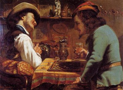 Courbet - The Draughts Players - 1844