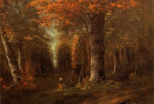 Courbet - The Forest in Autumn - 1841