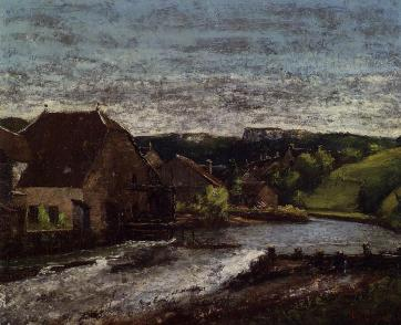 Courbet - The Loue Valley - 1872