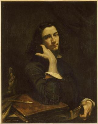 Courbet - The Man with the Leather Belt, a Portrait of the Artist - nd