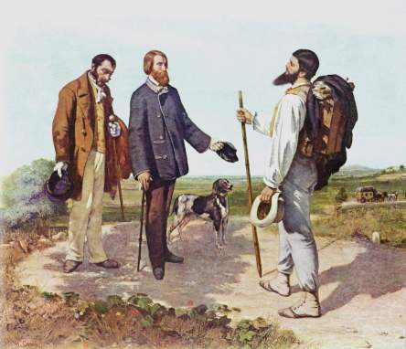 Courbet - The Meeting (Bonjour Monsieur Courbet) - 1854