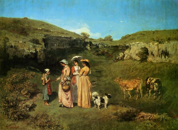Courbet - The Village Maidens- 1852