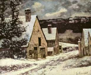 Courbet - Village Street in Winter - 1870