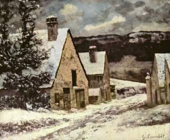 Courbet - Village Street in Winter - 1870