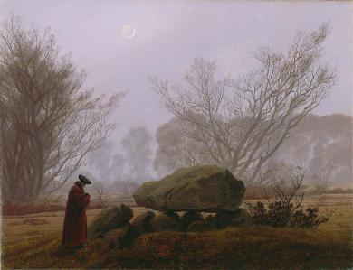 Friedrich - A Walk at Dusk - 1837