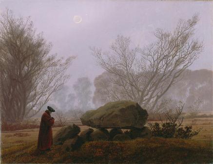 Friedrich - A Walk at Dusk - 1837
