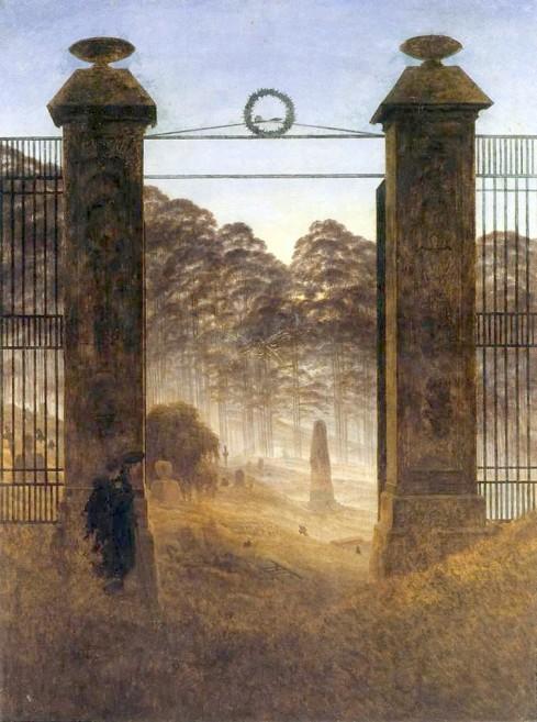 Friedrich - Cemetery Entrance - 1825