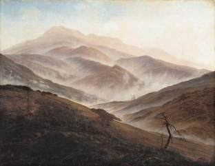 Friedrich - Giant Mountains Landscape with Rising Fog - 1820