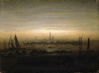 Friedrich - Greifswald in moonlight - 1817