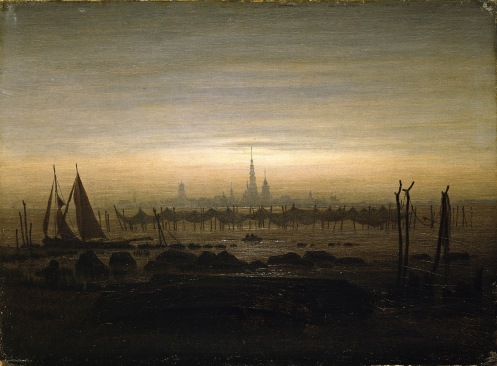 Friedrich - Greifswald in moonlight - 1817