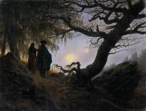 Friedrich - Man and Woman Contemplating the Moon - 1824