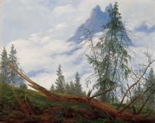 Friedrich - Mountain Peaks with Drifting Clouds - 1835
