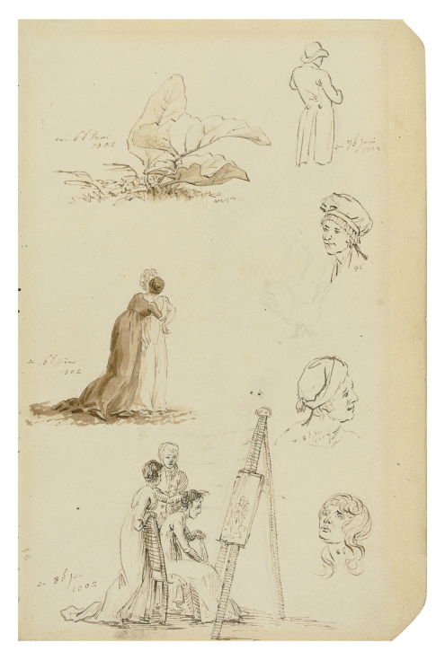 Friedrich - Study of heads, figures, and foliage - 1802