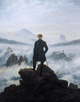 Friedrich - The wanderer above the sea of fog - 1818