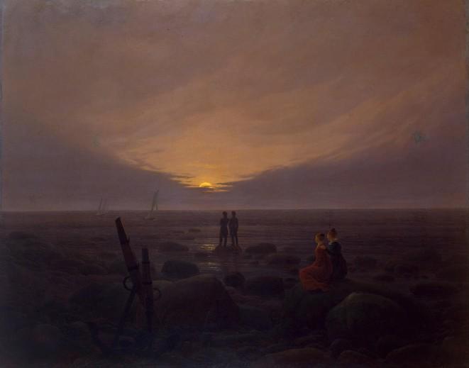 Friedrich - Twilight at the Seaside - 1819